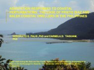 adaptation responses to coastal perturbations - APAFRI-Asia Pacific ...