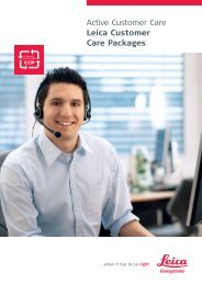 Active Customer Care Leica Customer Care Packages