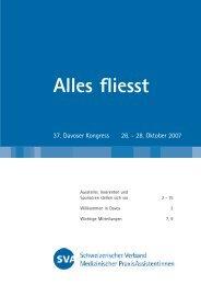 fliesst - Schweizerischer Verband Medizinischer PraxisAssistentinnen
