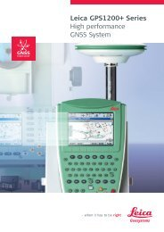 Leica GPS1200+ Series High performance GNSS System