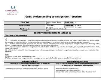 Understanding by design unit template - Understanding by design unit plan template ...