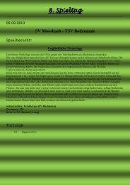 TSV Bodenmais - SV Moosbach