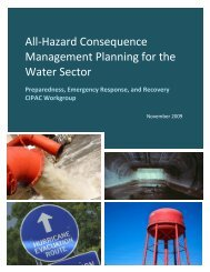 All-Hazard Consequence Management Planning for the Water Sector