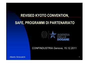 SAFE, C-TPAT e AEO Genova - Confindustria Genova