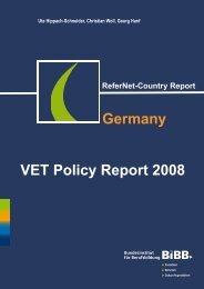 ReferNet Country Report Germany 2008 - BiBB