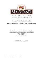 Systems Network Administration (PDF) - DoIT Website - Maryland.gov