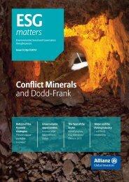 ESG Matters, Issue 5, April 2013 - Allianz Global Investors