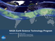 NASA Earth Science Technology Program - Space Flight Systems