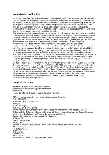 Leenprotocollen betreffende Elsen - De Hofmarken