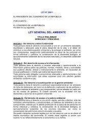 Ley General del Ambiente - Fonam
