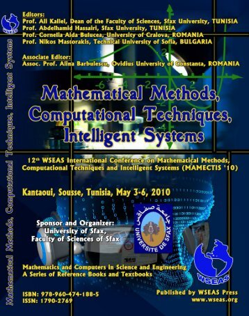 MATHEMATICAL METHODS, COMPUTATIONAL ... - Wseas.us