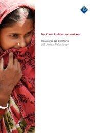 Broschüre Philanthropie-Beratung - LGT Group