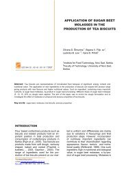 APPLICATION OF SUGAR BEET MOLASSES IN THE ... - FINS