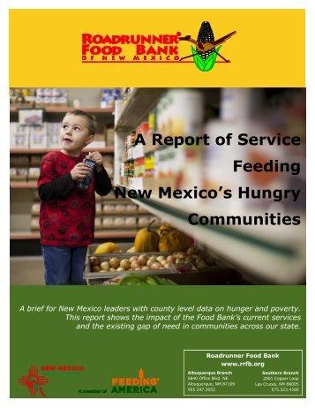 Report of Service 2013 - Roadrunner Food Bank