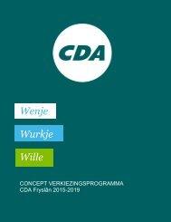 Concept verkiezingsprogramma CDA Fryslan 2015-2019