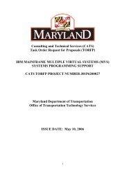 ibm mainframe multiple virtual systems - DoIT Website - Maryland.gov