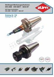 Steilkegel-Werkzeugaufnahmen DIN 2080 DIN 69871 ... - ToolSpann