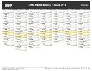 STARZ INBLACK Schedule - August, 2013