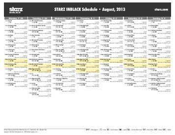 movieplex schedule april 2012 starz