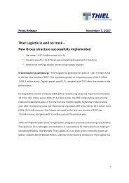 071107 Thiel Logistik Ag press Release Q3 2007