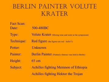 Berlin Painter Volute Krater - KC