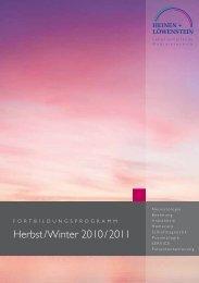 Herbst / Winter 2010 / 2011 - Heinen + Löwenstein