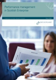 Performance management in Scottish Enterprise - Audit Scotland