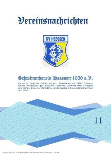 W ichtige Information für unsere Mitglieder - SV Heessen