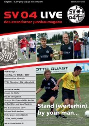 Stand (weiterhin) by your man... - SV 04 Attendorn e.V.