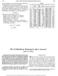 The Unidirectional Equiangular Spiral Antenna* - CIRA