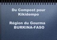 Du Compost pour Kikidempo au BURKINA - Fondation FARM