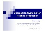Expression Systems for Peptide Production
