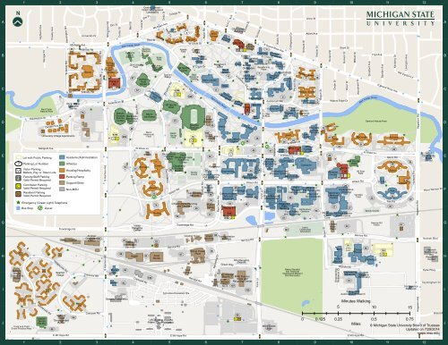 Michigan State Campus Map Main Campus Map (PDF)   MSU Campus Maps   Michigan State