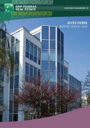 Rapport annuel - Accès Pierre - 2010 - BNP Paribas REIM