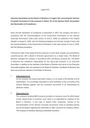 Logwin AG Voluntary Declaration by the Board of Directors of ...