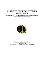 Guide to Court Customer Assistance - Arizona Judicial Department