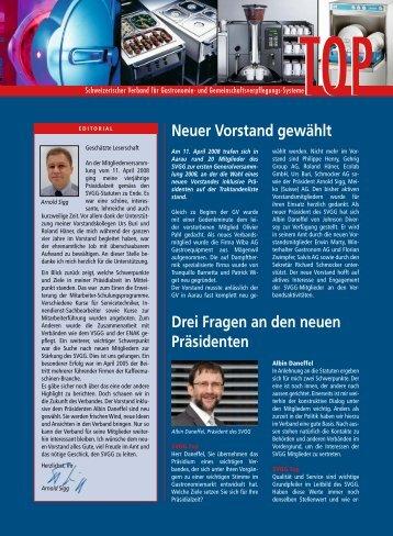 Neuer Vorstand gewählt - Der Schweizerische Verband für ...