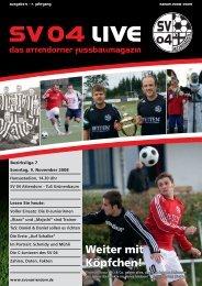 Ausgabe 5 - 09.11.2008 (Grünenbaum) - SV 04 Attendorn e.V.