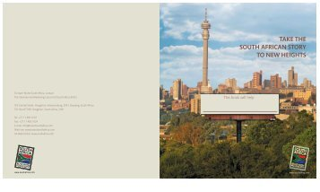 take the south african story to new heights - Brand South Africa