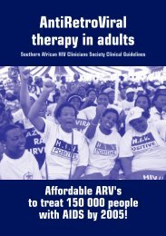 8indications for starting arv therapy - Treatment Action Campaign