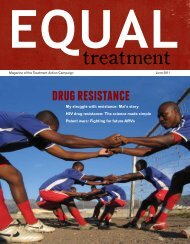 Issue 38: Jun '11 Drug Resistance - Treatment  Action Campaign