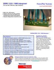 DDR3 1333 / 1600 Interposer - FuturePlus Systems