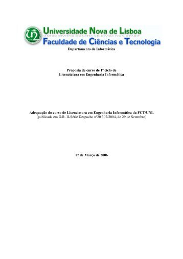 Proposta completa do curso (pdf) - Departamento de Informática