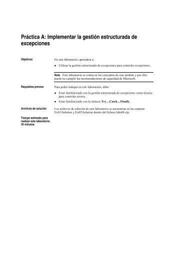 Práctica A: Implementar la gestión estructurada de ... - Willy .Net
