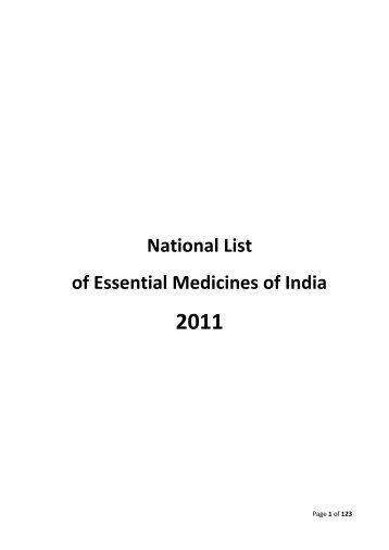 National List of Essential Medicines - Central Drugs Standard ...