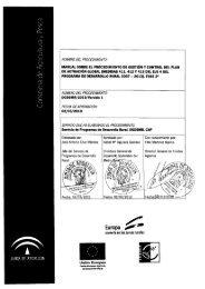 manual sobre el procedimiento de gestión y control del plan de ...