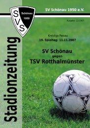 TSV Rotthalmünster k - SV Schönau
