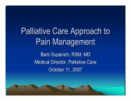Palliative Care Approach to Pain Management - Holy Cross Hospital
