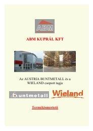 Ipari ötvözetek - ABM Kuprál Kft.