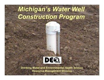 Michigan's Water Well Construction Program - Ottawa County